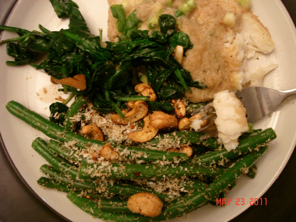 Padma's Bali Baked Fish with Coconut Green Beans