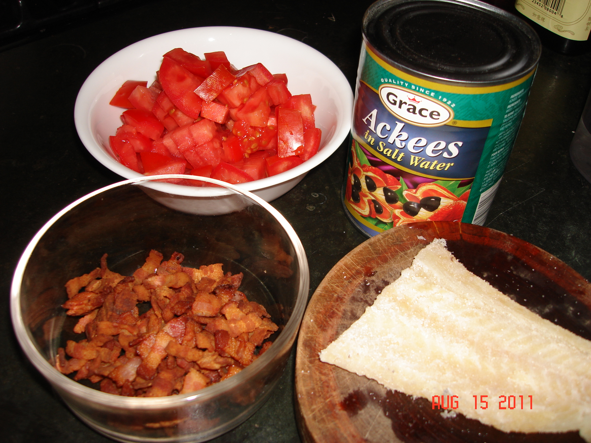 how to prepare ackee and saltfish