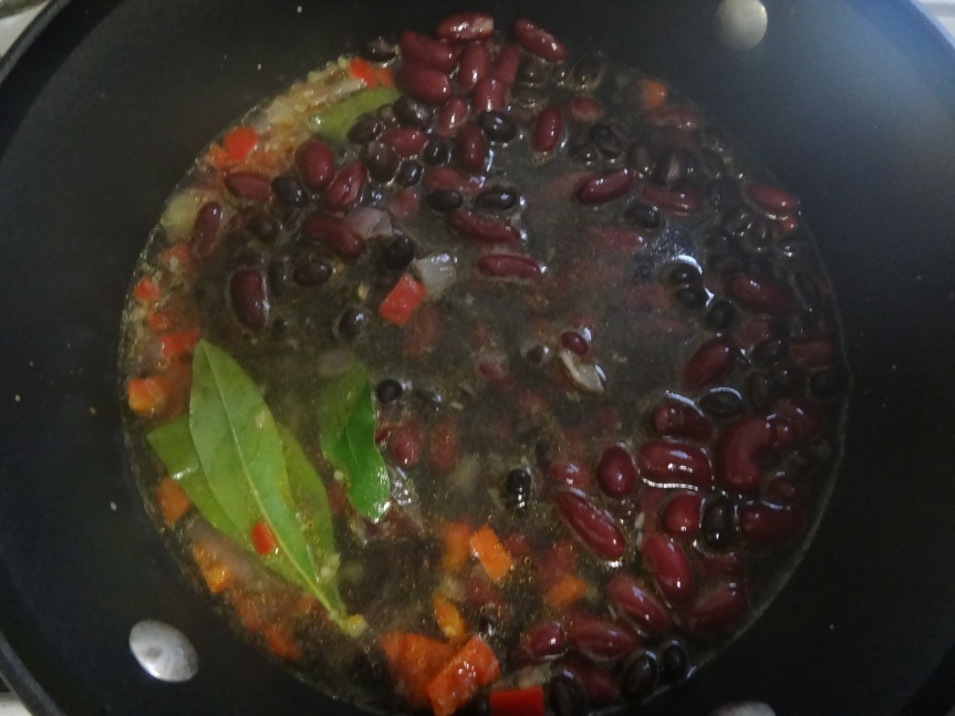jamaican black and red bean soup with northern bayberry