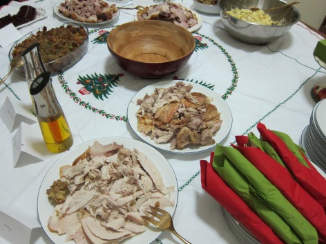 turkey with all the fixins