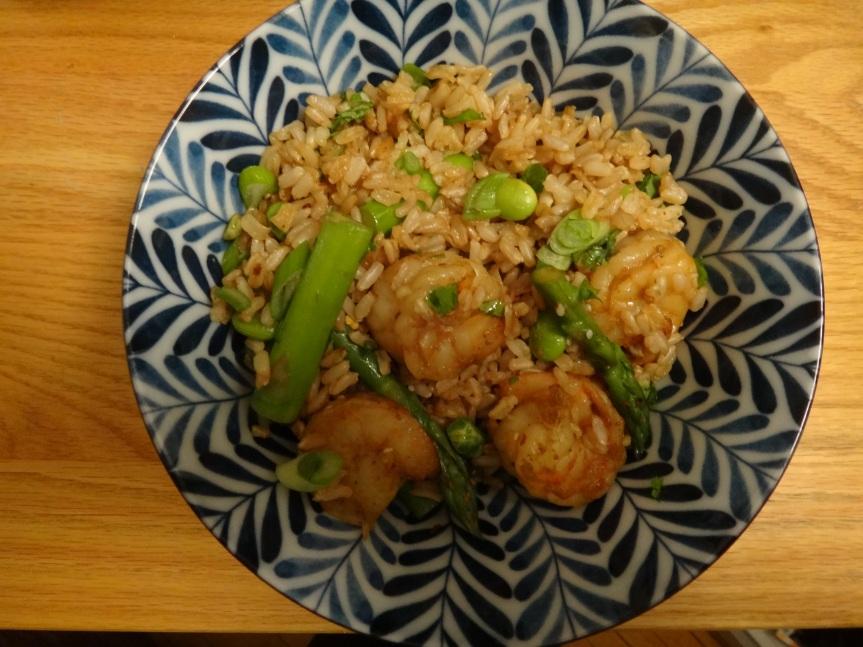 Curried Shrimp wth Sesame Rice