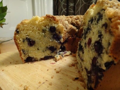 blueberry and yogurt coffee cake