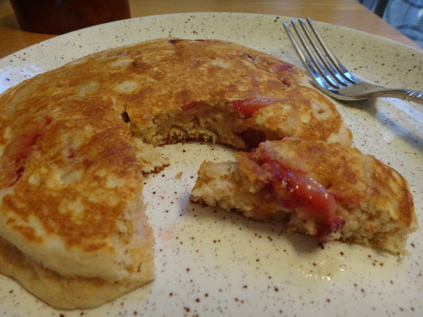 whole wheat strawberry pancake