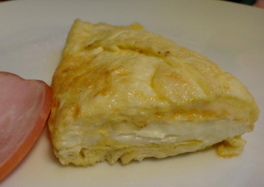 egg-egg white omelet