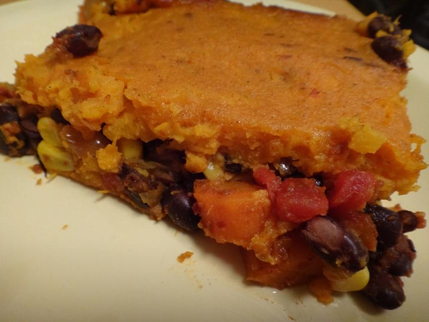 smoky southwest sweet potato shepherd's pie