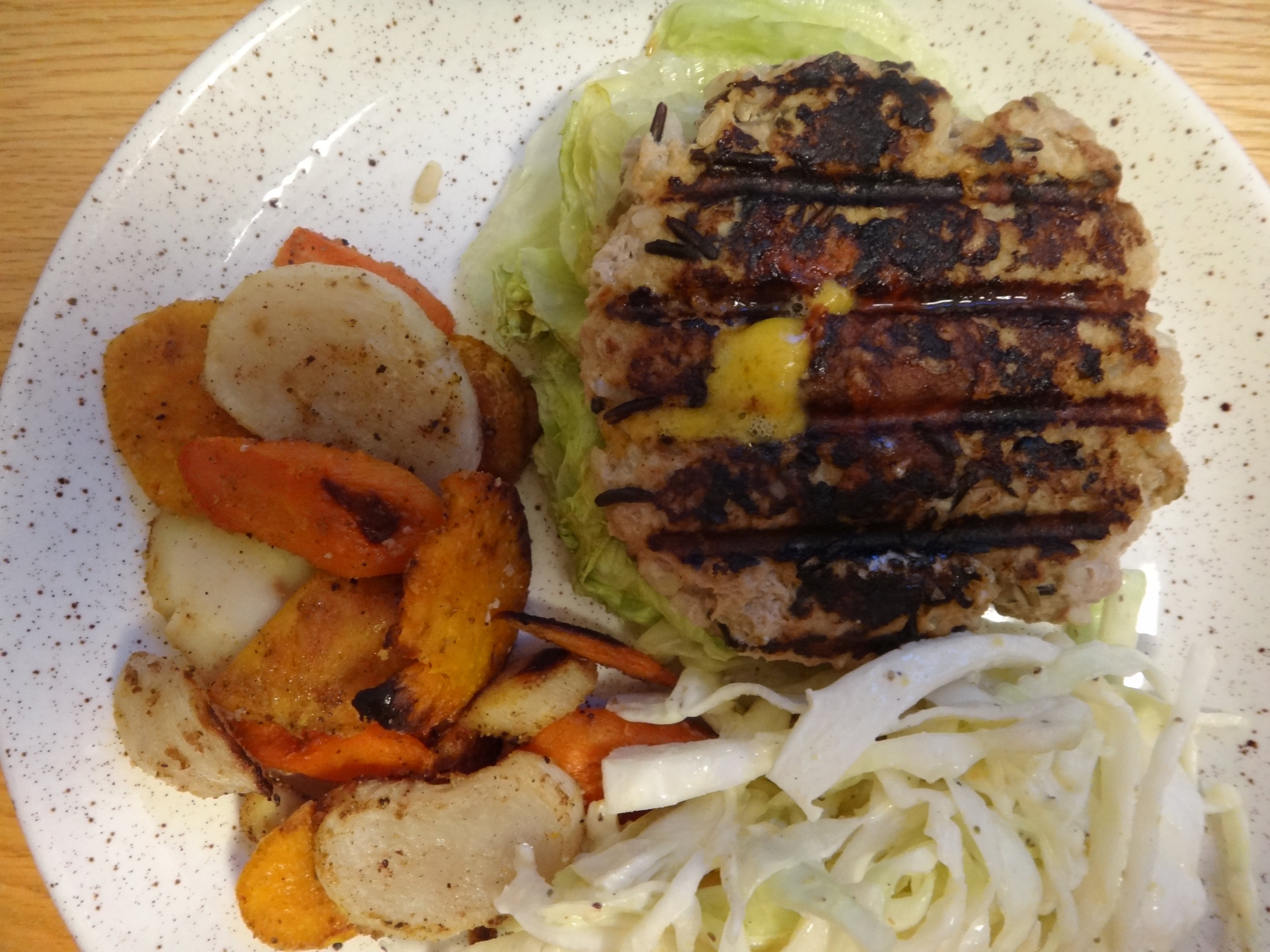 brown and wild rice turkey burgers with Tennessee-style cole slaw ...