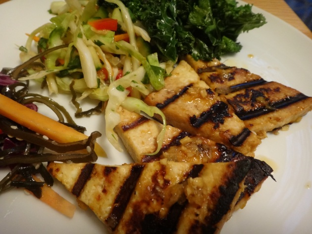 asian grilled tofu triangles