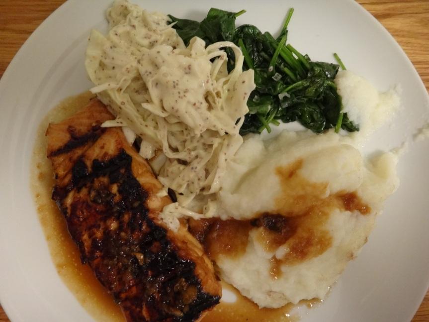 grilled mirin teriyaki salmon