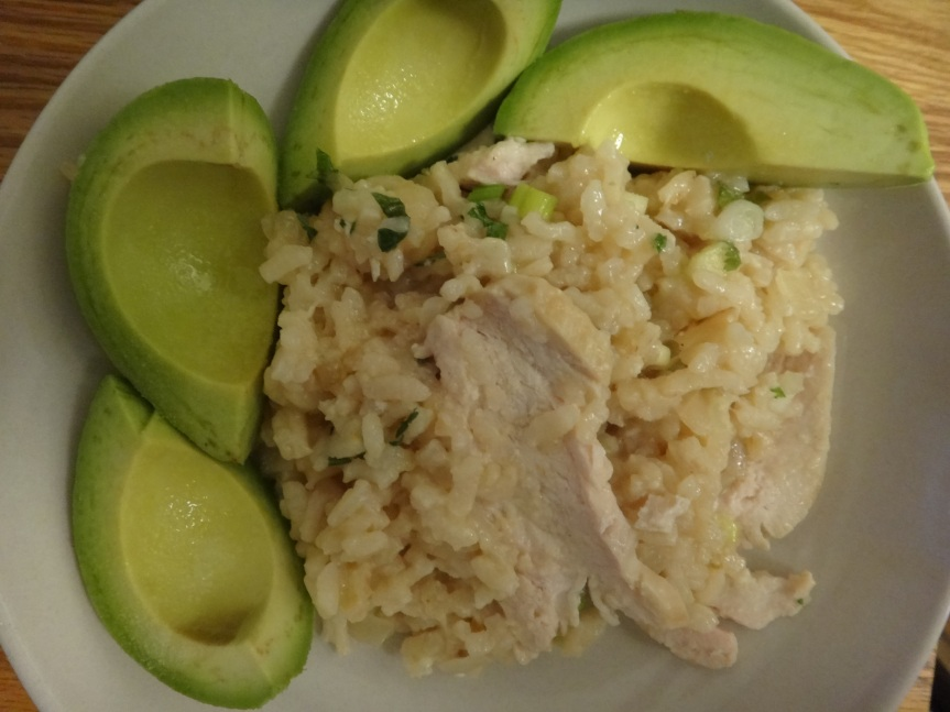 no fuss risotto with chicken and herbs
