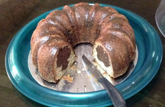 Chocolate-Banana Bundt Close Up